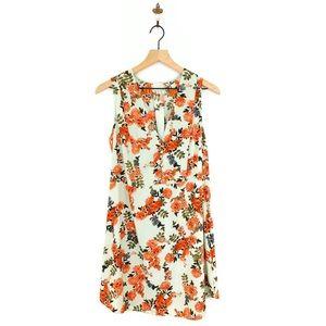 A New Day Floral Sleeveless Mini Dress Medium